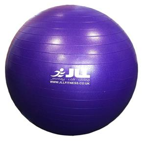 Purple pilates ball.